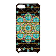 Gold Silver And Bloom Mandala Apple Ipod Touch 5 Hardshell Case With Stand