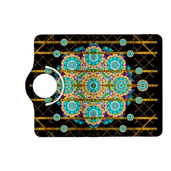 Gold Silver And Bloom Mandala Kindle Fire Hd (2013) Flip 360 Case