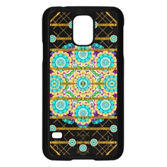 Gold Silver And Bloom Mandala Samsung Galaxy S5 Case (black)