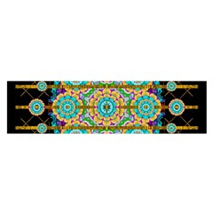 Gold Silver And Bloom Mandala Satin Scarf (oblong)