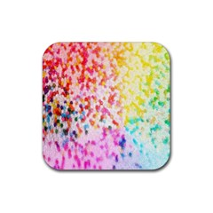 Colorful Colors Digital Pattern Rubber Coaster (square)