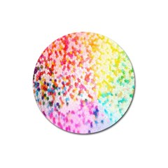 Colorful Colors Digital Pattern Magnet 3  (Round)