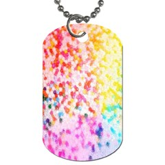 Colorful Colors Digital Pattern Dog Tag (One Side)