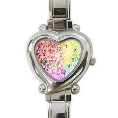 Colorful Colors Digital Pattern Heart Italian Charm Watch