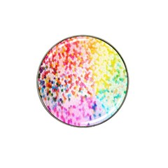 Colorful Colors Digital Pattern Hat Clip Ball Marker (4 Pack)