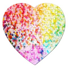 Colorful Colors Digital Pattern Jigsaw Puzzle (Heart)