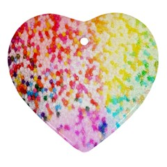 Colorful Colors Digital Pattern Heart Ornament (two Sides)