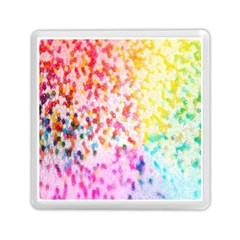 Colorful Colors Digital Pattern Memory Card Reader (square)