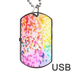 Colorful Colors Digital Pattern Dog Tag USB Flash (Two Sides)