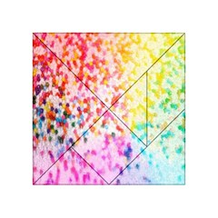 Colorful Colors Digital Pattern Acrylic Tangram Puzzle (4  x 4 )