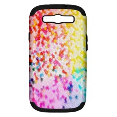 Colorful Colors Digital Pattern Samsung Galaxy S III Hardshell Case (PC+Silicone)