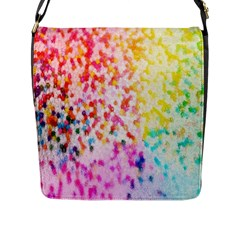 Colorful Colors Digital Pattern Flap Messenger Bag (L)