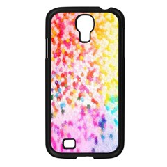 Colorful Colors Digital Pattern Samsung Galaxy S4 I9500/ I9505 Case (Black)