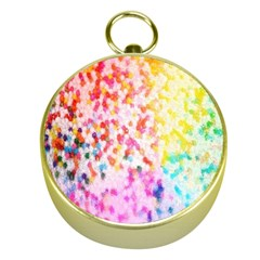 Colorful Colors Digital Pattern Gold Compasses