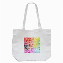 Colorful Colors Digital Pattern Tote Bag (White)