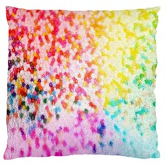 Colorful Colors Digital Pattern Large Flano Cushion Case (One Side)