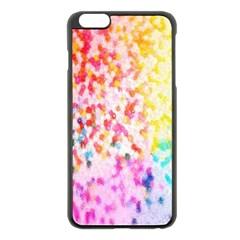 Colorful Colors Digital Pattern Apple iPhone 6 Plus/6S Plus Black Enamel Case