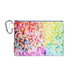 Colorful Colors Digital Pattern Canvas Cosmetic Bag (M)