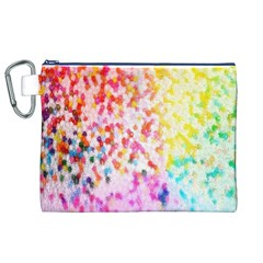 Colorful Colors Digital Pattern Canvas Cosmetic Bag (XL)