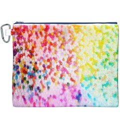 Colorful Colors Digital Pattern Canvas Cosmetic Bag (XXXL)