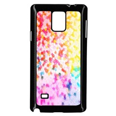 Colorful Colors Digital Pattern Samsung Galaxy Note 4 Case (Black)