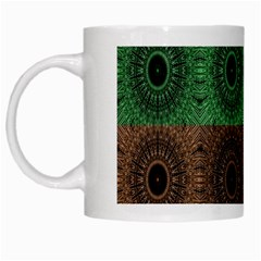 Creative Digital Pattern Computer Graphic White Mugs
