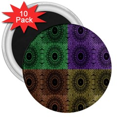 Creative Digital Pattern Computer Graphic 3  Magnets (10 pack)