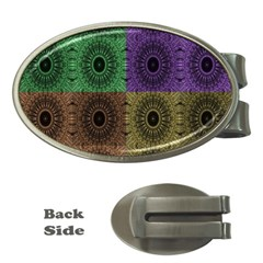 Creative Digital Pattern Computer Graphic Money Clips (oval)