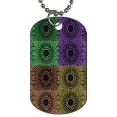 Creative Digital Pattern Computer Graphic Dog Tag (one Side)