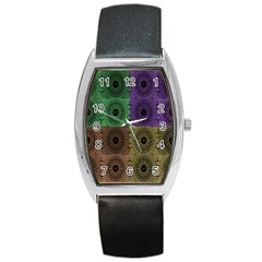 Creative Digital Pattern Computer Graphic Barrel Style Metal Watch