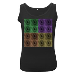 Creative Digital Pattern Computer Graphic Women s Black Tank Top