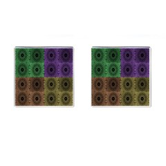 Creative Digital Pattern Computer Graphic Cufflinks (square)