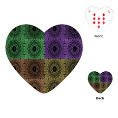 Creative Digital Pattern Computer Graphic Playing Cards (Heart)