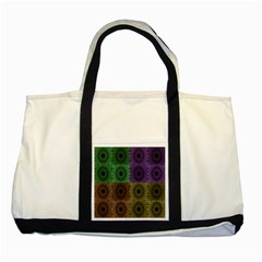 Creative Digital Pattern Computer Graphic Two Tone Tote Bag