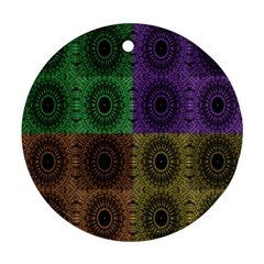 Creative Digital Pattern Computer Graphic Round Ornament (two Sides)