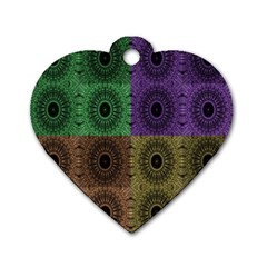 Creative Digital Pattern Computer Graphic Dog Tag Heart (two Sides)