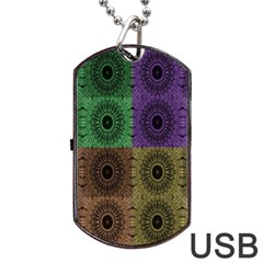 Creative Digital Pattern Computer Graphic Dog Tag Usb Flash (two Sides)
