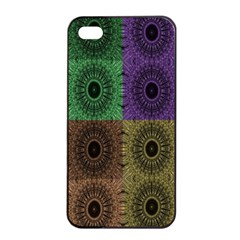 Creative Digital Pattern Computer Graphic Apple Iphone 4/4s Seamless Case (black)