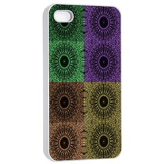 Creative Digital Pattern Computer Graphic Apple iPhone 4/4s Seamless Case (White)