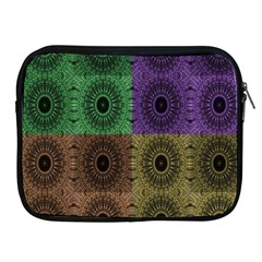 Creative Digital Pattern Computer Graphic Apple iPad 2/3/4 Zipper Cases