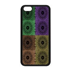 Creative Digital Pattern Computer Graphic Apple iPhone 5C Seamless Case (Black)