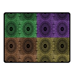 Creative Digital Pattern Computer Graphic Double Sided Fleece Blanket (Small)