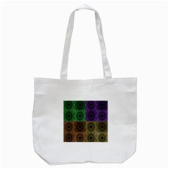 Creative Digital Pattern Computer Graphic Tote Bag (White)
