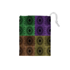 Creative Digital Pattern Computer Graphic Drawstring Pouches (Small)