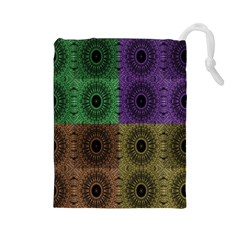 Creative Digital Pattern Computer Graphic Drawstring Pouches (Large)