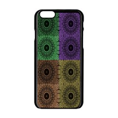 Creative Digital Pattern Computer Graphic Apple iPhone 6/6S Black Enamel Case