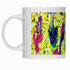 Grunge Abstract Yellow Hand Grunge Effect Layered Images Of Texture And Pattern In Yellow White Black White Mugs