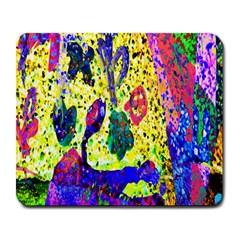 Grunge Abstract Yellow Hand Grunge Effect Layered Images Of Texture And Pattern In Yellow White Black Large Mousepads
