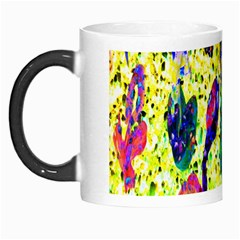 Grunge Abstract Yellow Hand Grunge Effect Layered Images Of Texture And Pattern In Yellow White Black Morph Mugs