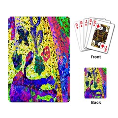 Grunge Abstract Yellow Hand Grunge Effect Layered Images Of Texture And Pattern In Yellow White Black Playing Card